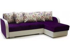 Угловой диван-еврокнижка Саванна (Фиолетовый)