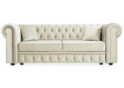Прямой диван Честер Люкс (Белый)