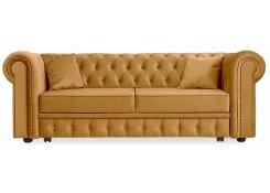 Прямой диван Честер Люкс (Желтый)