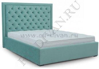Кровать Тиффани Капитоне фото 1 цвет голубой