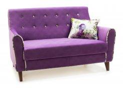 Прямой диван Муссон (Фиолетовый)