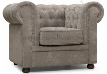 Кресло Честер – доставка фото 1 цвет серый