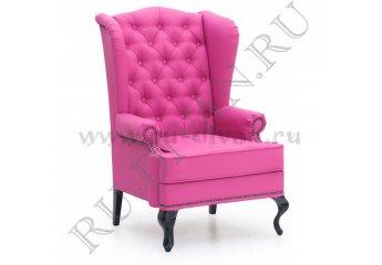 Каминное кресло с ушами – доставка фото 1 цвет розовый