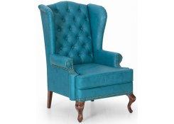 Каминное кресло с ушами (Голубой)