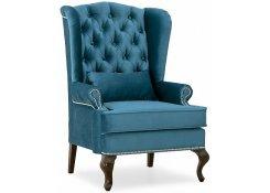 Каминное кресло с ушами (Синий)