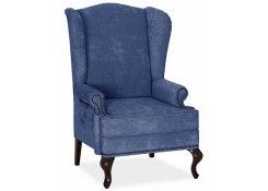 Английское кресло с ушами (Синий)