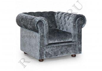Кресло Честерфилд фото 1 цвет серый