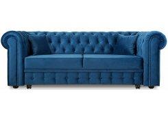 Прямой диван Честер Люкс (Синий)