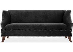 Прямой диван Оберхауз (Черный)