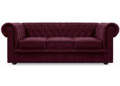 Прямой диван Честер трёхместный (Фиолетовый)