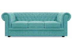 Прямой диван Честер трёхместный (Голубой)