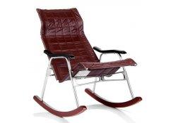 Кресло-качалка складная Белтех к/з коричневый