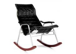 Кресло-качалка складная Белтех к/з черный