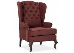 Каминное кресло с ушами (Красный)