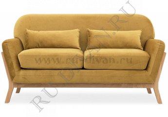 Прямой диван Йоко – доставка фото 1 цвет оранжевый