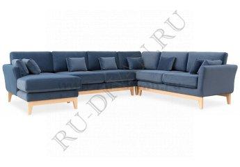 Модульный диван Дублин В2 фото 1 цвет темно-синий