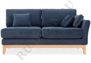 Модуль диван с подлокотником Дублин фото 1 цвет темно-синий