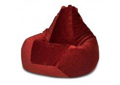 Кресло Мешок Груша Бордовый Микровельвет (3XL, Классический)