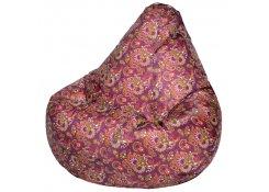 Кресло Мешок Груша Огурцы Бордо (Оксфорд) (3XL, Классический)