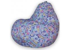 Кресло Мешок Груша Домики Фиолетовые (3XL, Классический)