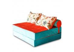 Бескаркасный диван PuzzleBag Бирюзовый XL