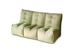 Бескаркасный диван SHAPE Оливковый 3 секции