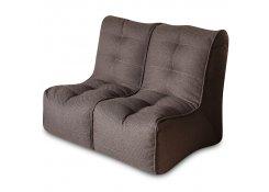 Бескаркасный диван SHAPE Коричневый 2 секции