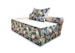 Бескаркасный диван PuzzleBag Твинкли Голубой XL
