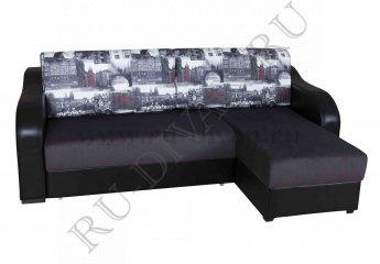 Угловой диван Ричардс 2 – доставка фото 1 цвета: коричневый, черный