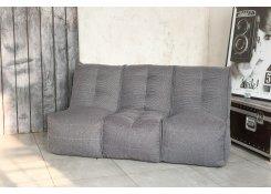 Бескаркасный диван SHAPE Серый 3 секции