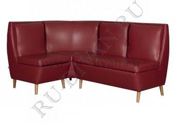 Угловой диван Беседа 2 для кухни фото 1 цвет красный