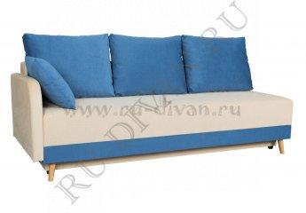 Диван Азалия еврокнижка – отзывы покупателей фото 1 цвета: бежевый, синий