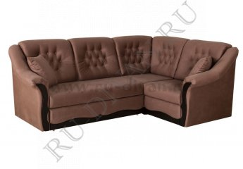 Угловой диван Элизабет – характеристики фото 1 цвет коричневый