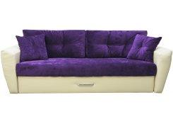 Диван еврокнижка Амстердам люкс 10 (Фиолетовый)
