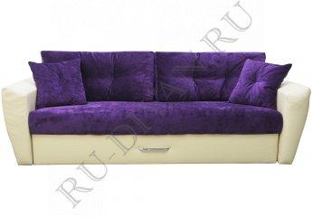 Диван еврокнижка Амстердам люкс 10 – характеристики фото 1 цвета: фиолетовый, бежевый