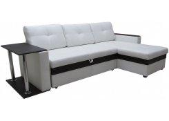 Угловой диван-дельфин Атланта 3 эконом со столиком